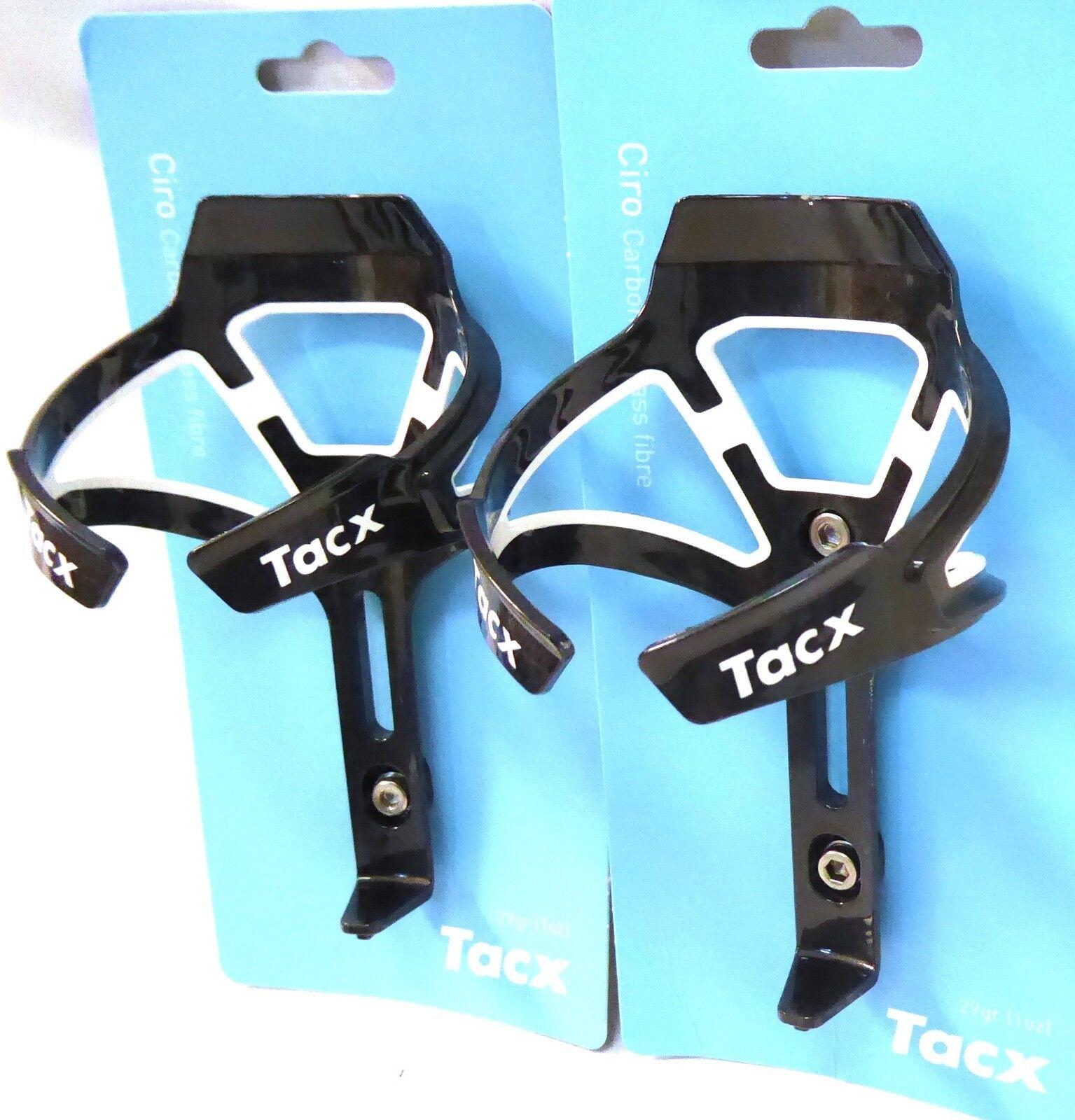 Tacx Ciro Ciro Ciro Carbone Bouteille D'Eau Support Paire Blanc dd0d05