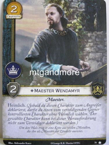 A Game of thrones 2.0 lunaires 1x Mestre wendamyr #070 base set-second edition