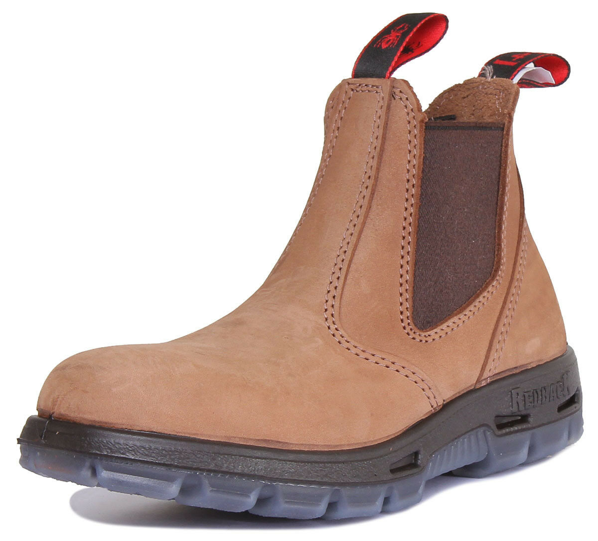 Red Back UBCH Mesa Men Leather Matt Taupe Chelsea Boots 7 - 12