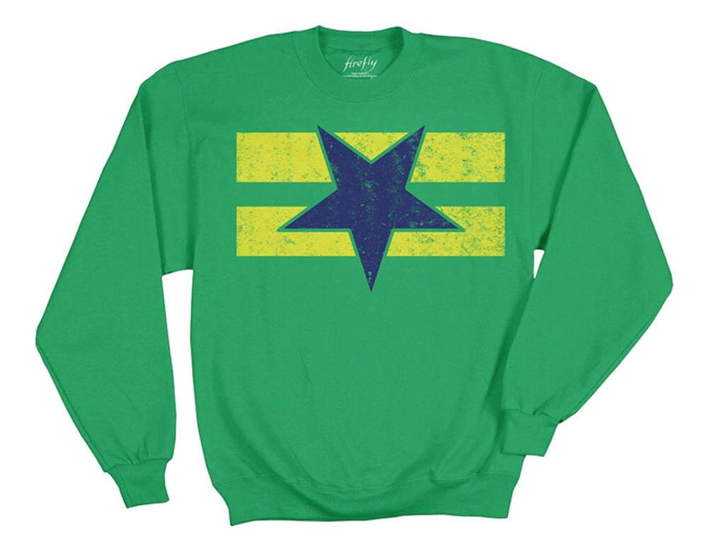 Firefly Flag  Herren Grün Pullover Fleece Sweatshirt | S