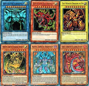 Yugioh Cards Yugioh Singles Egyptian God and Cards
