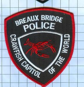 BREAUX BRIDGE LOUISIANA POLICE SHOULDER PATCH CRAWFISH