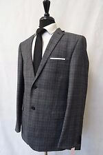 Men's Ted Baker Slim Fit  Grey Checked Wool Sports Jacket Blazer 40R CC6301