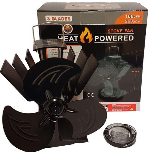 3 lame heat powered stove fan par ecoflow log brûleur poêle à bois ventilateur