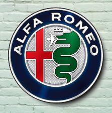 LOGO ALFA ROMEO 2ft GRANDE Garage Segno Muro Placca Classic AUTO SPIDER 155 Giulia