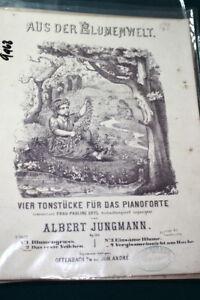 #9968, Albert Jungmann @ 1850,das Erste Veilchen, Sheet Music,-afficher Le Titre D'origine Prix RéDuctions