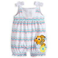 Disney Store Finding Nemo Knit Romper For Baby Girl So Cute Front & Back