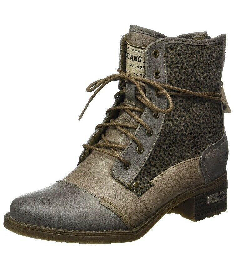 Mustang Women's 1229-504 Ankle Boots, Multicolor (367 grey Erde) 38 UK