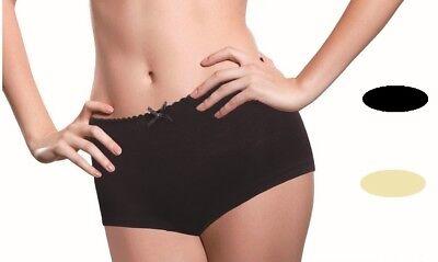 Original 4 Damen Mädchen Panties Slip Unterwäsche Bambusfaser Naturfaser Xs,s, M