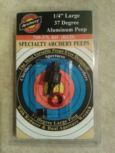 """Specialty Archery 1//4/"""" Large Non-Hooded Peep #749-37L"""