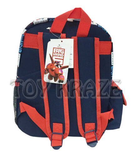 """NAVY BLUE /& RED SMALL BOYS SCHOOL BAG 12/"""" NWT BIG HERO 6 TODDLER BACKPACK"""