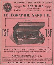 Z8280 Télégraphie sans fil T.S.F. - G. PERICAUD - Pubblicità d'epoca - 1914 Ad