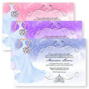 Fairytale Bridal Shower Bouquet Bride Wedding Invitations Custom