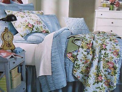 homthreads Pismo Beach Comforter Quilt /& Pillow Sham Set Bedding Blue Twin NEW