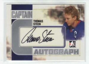 T-STEEN-WINNIPEG-11-12-ITG-CAPTAIN-C-AUTOGRAPHED-CARD-A-TST