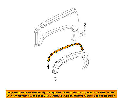 Genuine GM Parts 15546444 Passenger Side Front Wheel Opening Molding