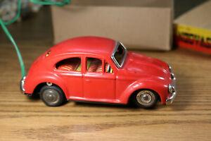"Volkswagen Asahi Sanshin Japan 4G-113 Remote Control Car Red VW Box 5"" Beetle"