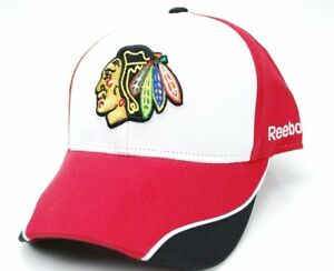 Chicago-Blackhawks-Reebok-NHL-Piped-Bill-OSFM-Adjustable-Hockey-Cap-Hat
