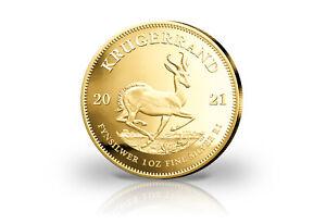 Krügerrand 1 oz Silber 2021 Südafrika mit Gold