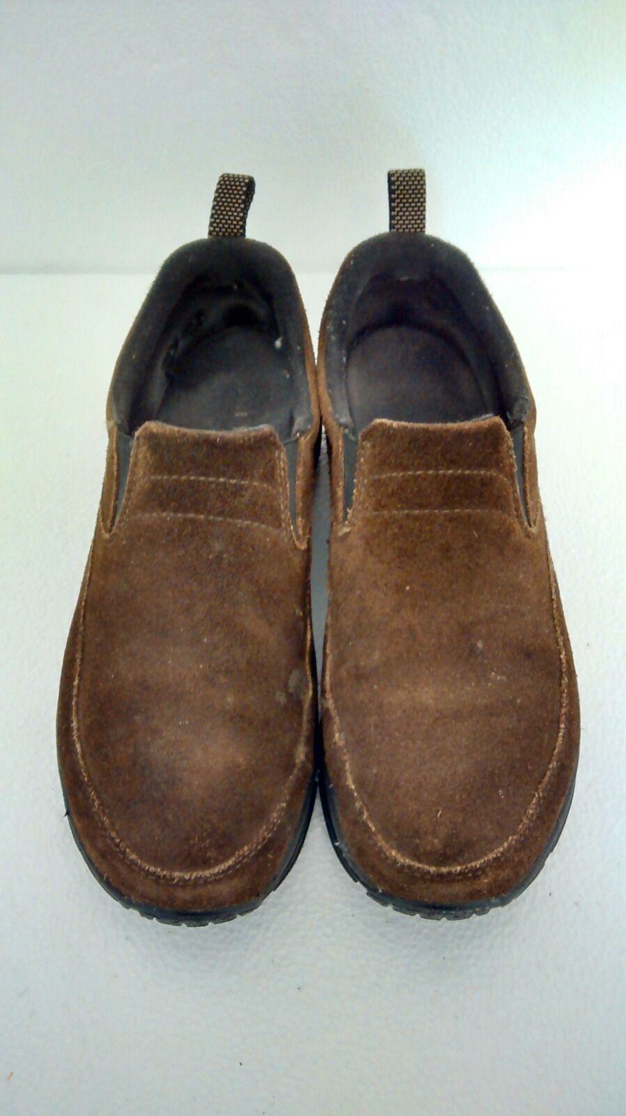 L.L. Bean Women's Comfort Mocs Brown Leather Hiking Boots shoes SZ 9M