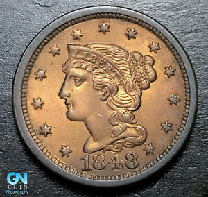 1848-Braided-Hair-Large-Cent-MAKE-US-AN-OFFER-B3706