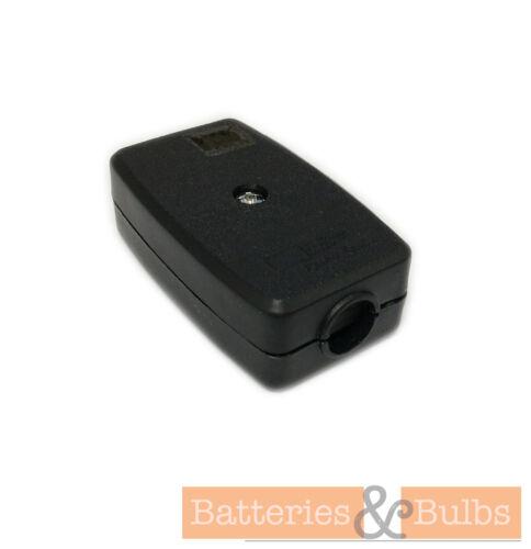2 Core 5 A amp Flex Connecteur de Câble Menuisier disponible en noir ou blanc