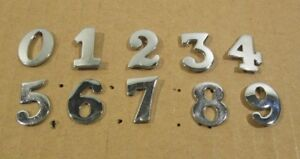Ex-British-Police-Chrome-Numbers-Pin-Back-0-9-Number-Epaulettes-Uniform