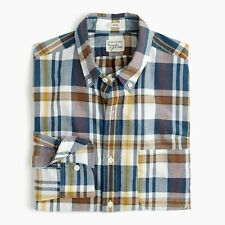 ATHLETA LumberJill Shirt Sea Salt Navy Long Sleeve Button Down Petite Large