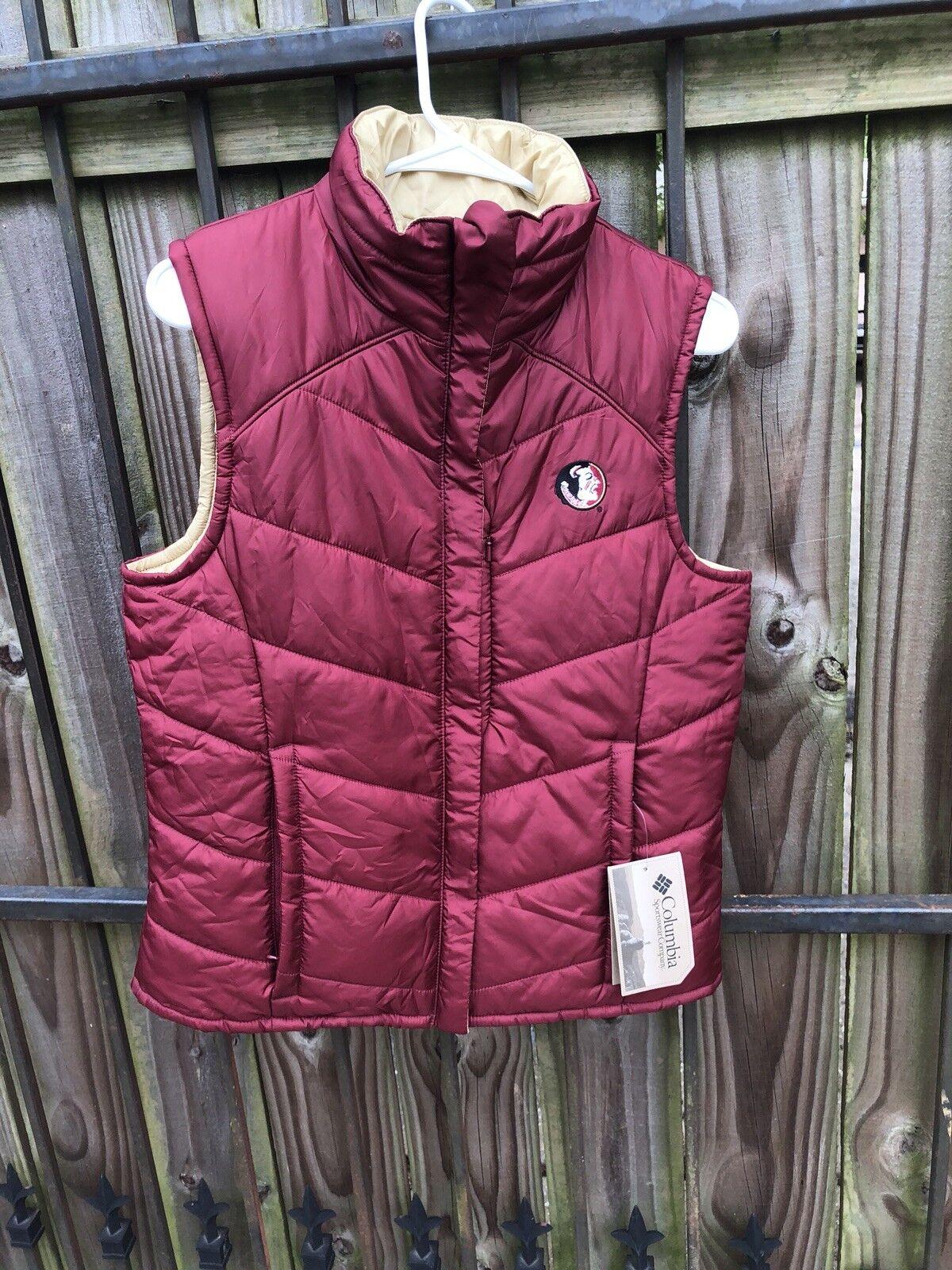 Women's Columbia FSU Reversible Puffer Vest