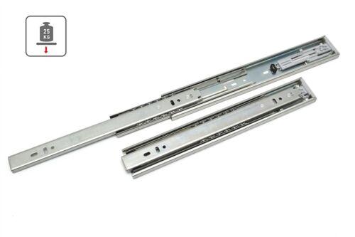 1x Vollauszug Schubladenschiene mit Soft Close 300-600mm 25kg