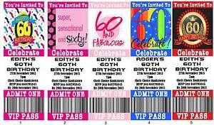 Personalised-60th-Ticket-Style-Birthday-Invitations