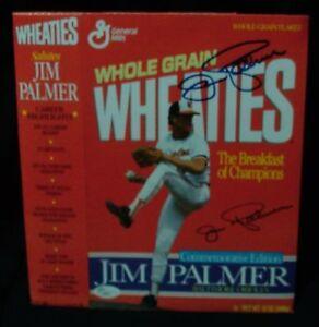 JIM PALMER AUTOGRAPHED WHEATIES BOX JSA