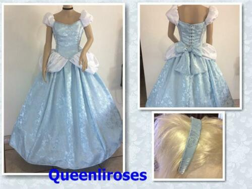 """42 Adult Your Size Busts 32/"""" Cinderella Enchanted Ball Gown Dress /& Headband"""