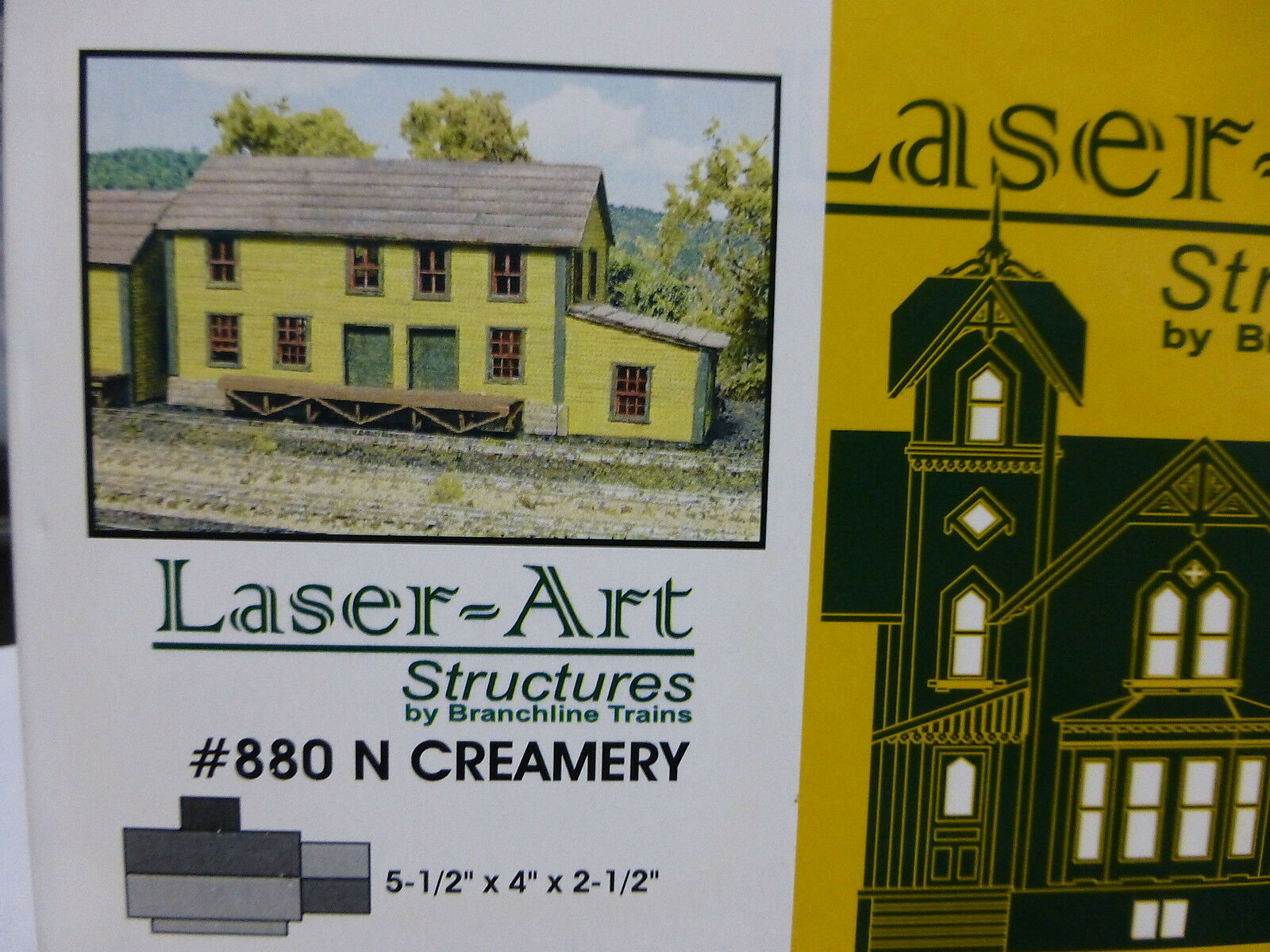 Branchline N Creamery 5-1 2  x 4  x 2-1 2  Laser-Art Kit Form