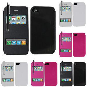 Accessoire-Housse-etui-coque-pochette-plastique-View-Case-Apple-iPhone-4-4S-4G