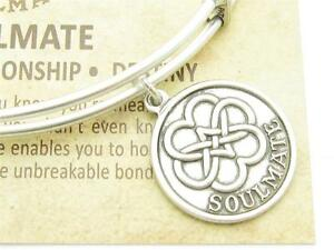 Wind-and-Fire-Soulmate-Charm-Silver-Wire-Stackable-Bangle-Bracelet-USA-Gift-New