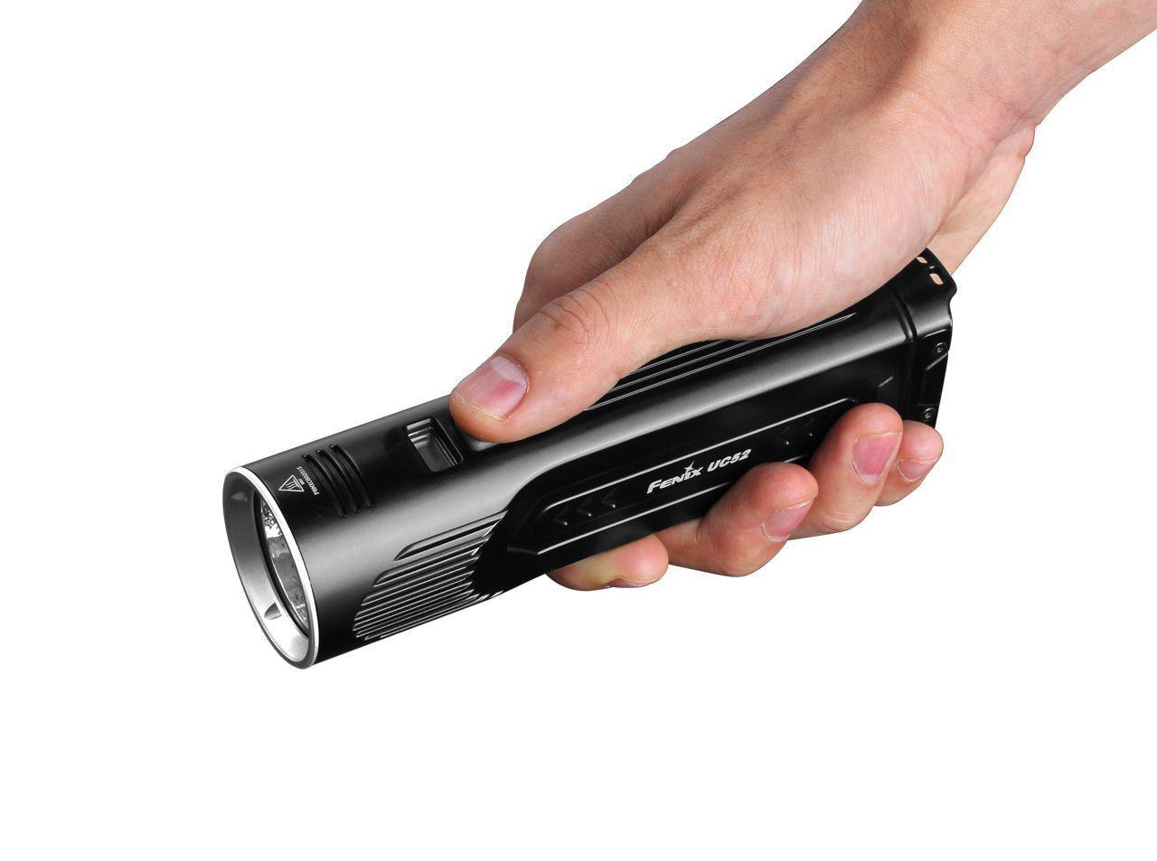 Fenix uc52 2018 3100lm ip68 42mm oled display holster cargador USB-carga
