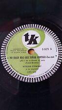 JAZZ 78 rpm RECORD TK MYRIAM STEWART & Cuarteto NO HAGO MAS QUE SOÑAR CONTIGO