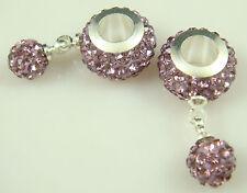 2014 Gorgeous Czech Crystals Dangle Bead fit European Charm Bracelet Earrings &8