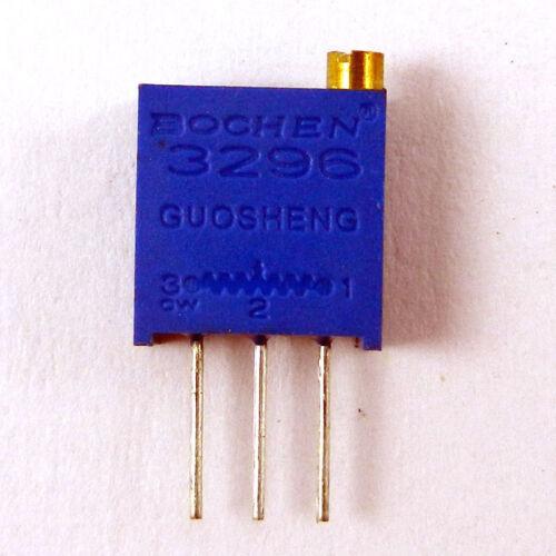 Multi-Tour de précision réglable Résistances 1K 50pcs 3296 W Potentiomètre 102