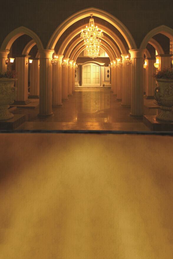 3D golden - korridor 3432 Fototapeten Wandbild Fototapete BildTapete Familie DE