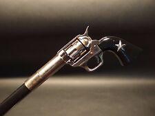 Vintage Antique Style Gun Handle METAL Walking Stick Cane w STAR