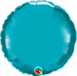 TURQUOISE-ROUND-BALLOON-18-034-METALLIC-TURQUOISE-PLAIN-QUALATEX-FOIL-BALLOON
