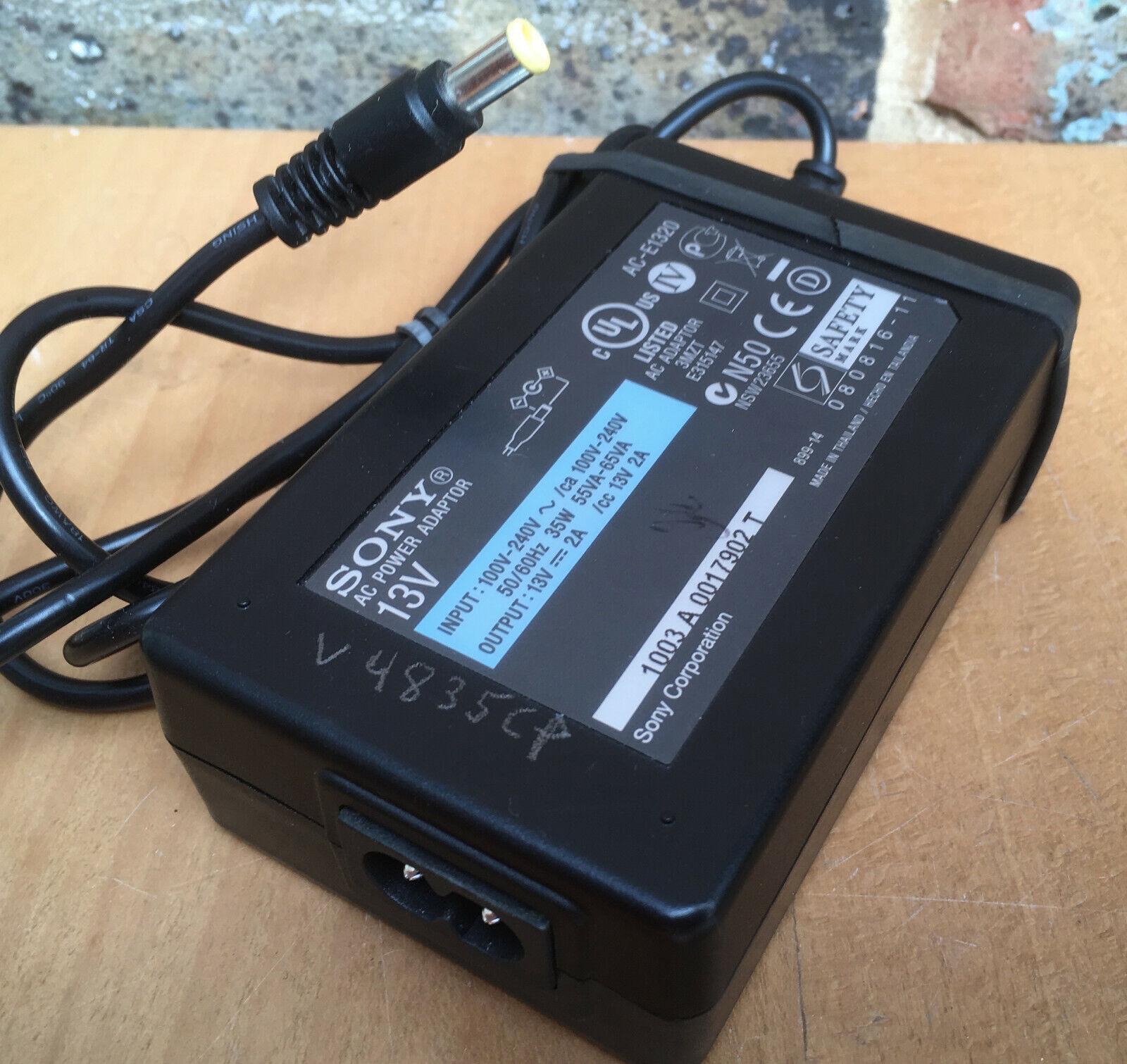 Sony AC-E1320 DC 13V 2A AC/DC Plug Adaptor PSU Power Supply mains adapter