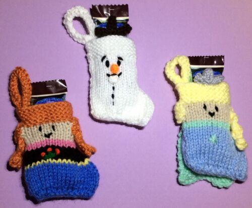 KNITTING PATTERN Olaf inspired Christmas stocking decoration Anna Frozen Elsa
