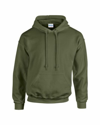 Military Green Gildan Plain Hooded Heavy Blend Sweatshirt Pullover mens hoodie