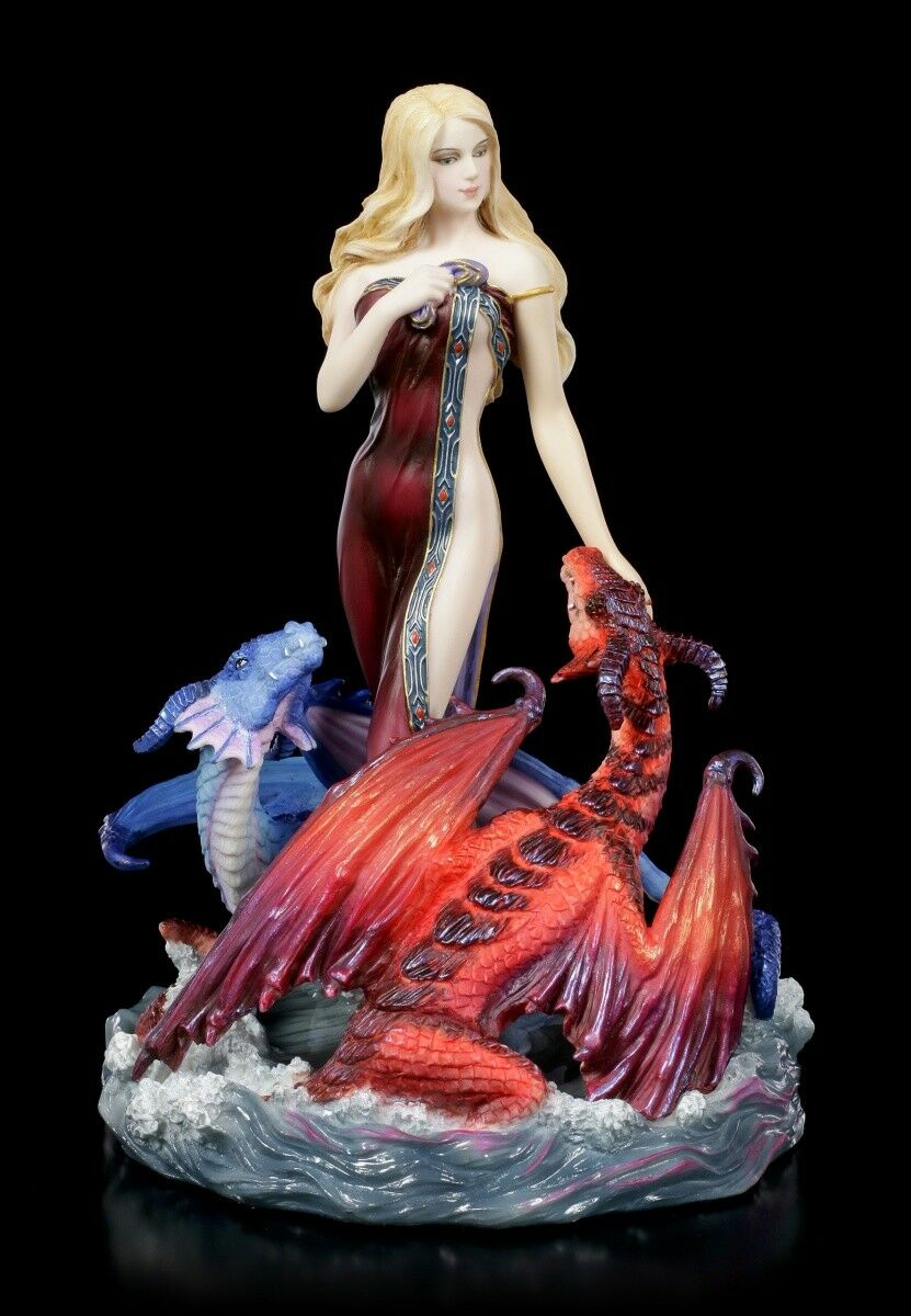 Drachen Figur - Dragon Bathers by James Ryman - Fantasy Drache Fee Elfe Statue
