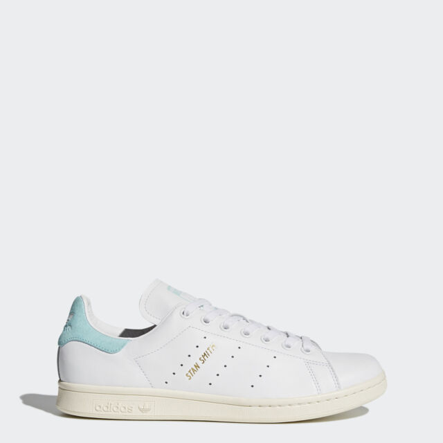 size 40 fb473 e37e7 Adidas Originals Stan Smith BZ0461 Men Casual Shoes WhiteEnergy Aqua