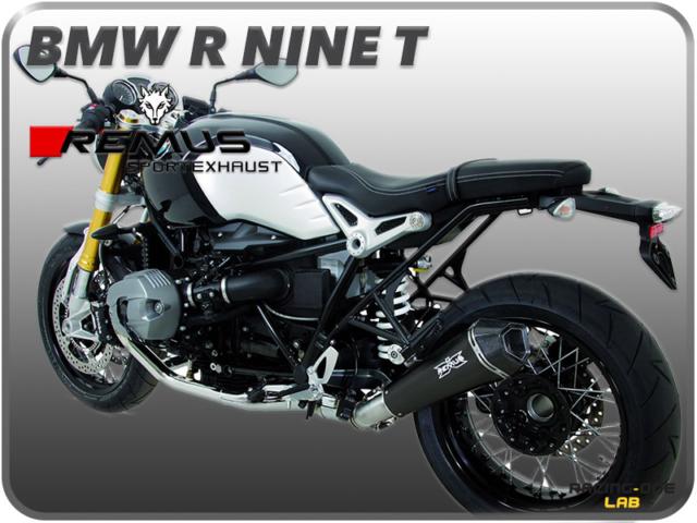 TERMINALE DI SCARICO REMUS HYPERCONE INOX NERO BMW R NINE T 14 > 16 OMOLOGATO