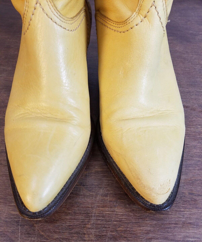 Mantequilla Amarillo para Mujer de Cuero Great Suave Zodiac Great Cuero Western bota Co. Bota Vaquera 7M 57d0bc